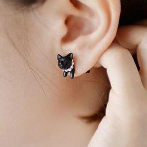 Jewelry - NEW Earrings Black Cat Punk Goth Gauge Jewelry